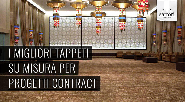 I migliori tappeti su misura per progetti contract for Sartori tappeti