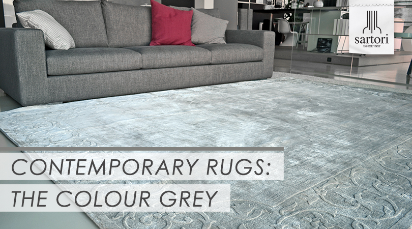 Contemporary Rugs  the Colour Grey