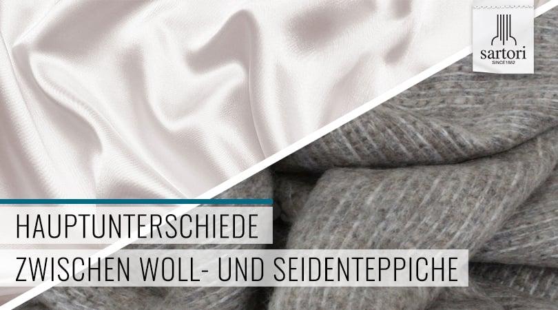 Hauptunterschiede zwischen Woll- und Seidenteppiche