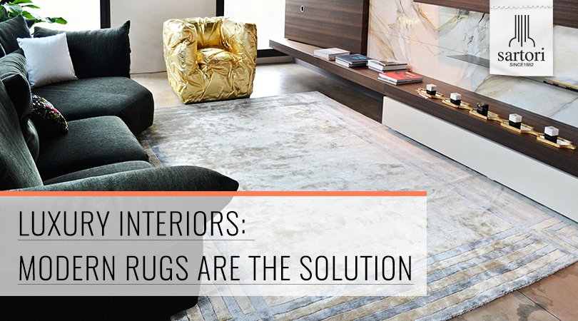 Luxury Interiors  Modern Rugs are the Solution