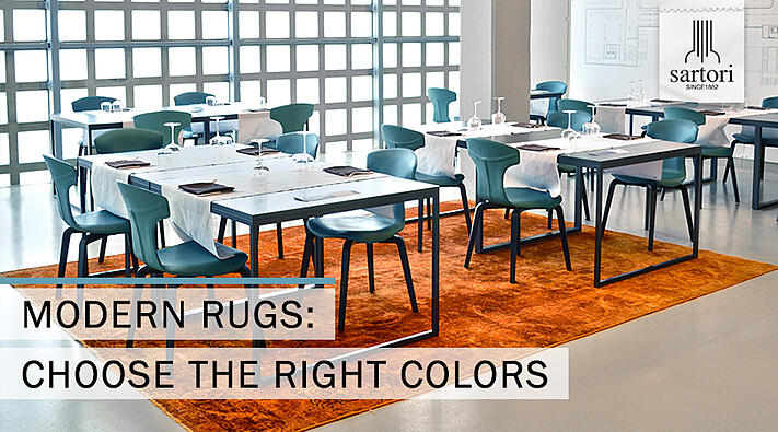 Modern rugs choose the right colors