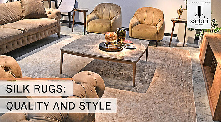 Silk rugs quality and style