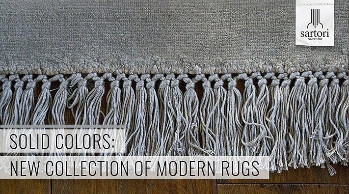 Solid Colors new collection of modern rugs