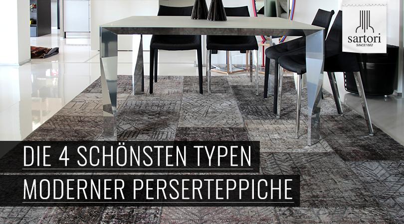 die 4 sch nsten typen moderner perserteppiche. Black Bedroom Furniture Sets. Home Design Ideas
