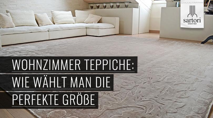 Wohnzimmer Teppiche: Wie wählt man die perfekte Größe